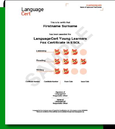 LanguageCert Young Learners ESOL